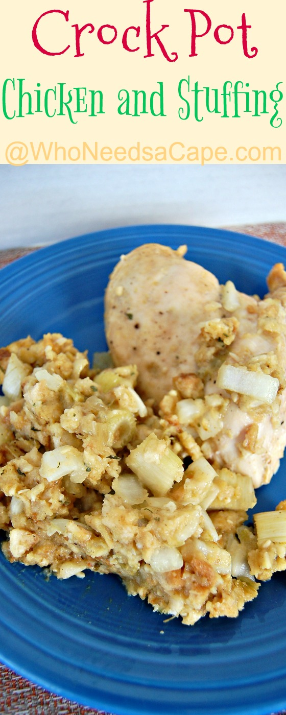 Chicken and Stuffing in the Crock Pot