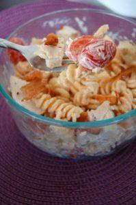 Chicken Club Pasta Salad | Who Needs A Cape?