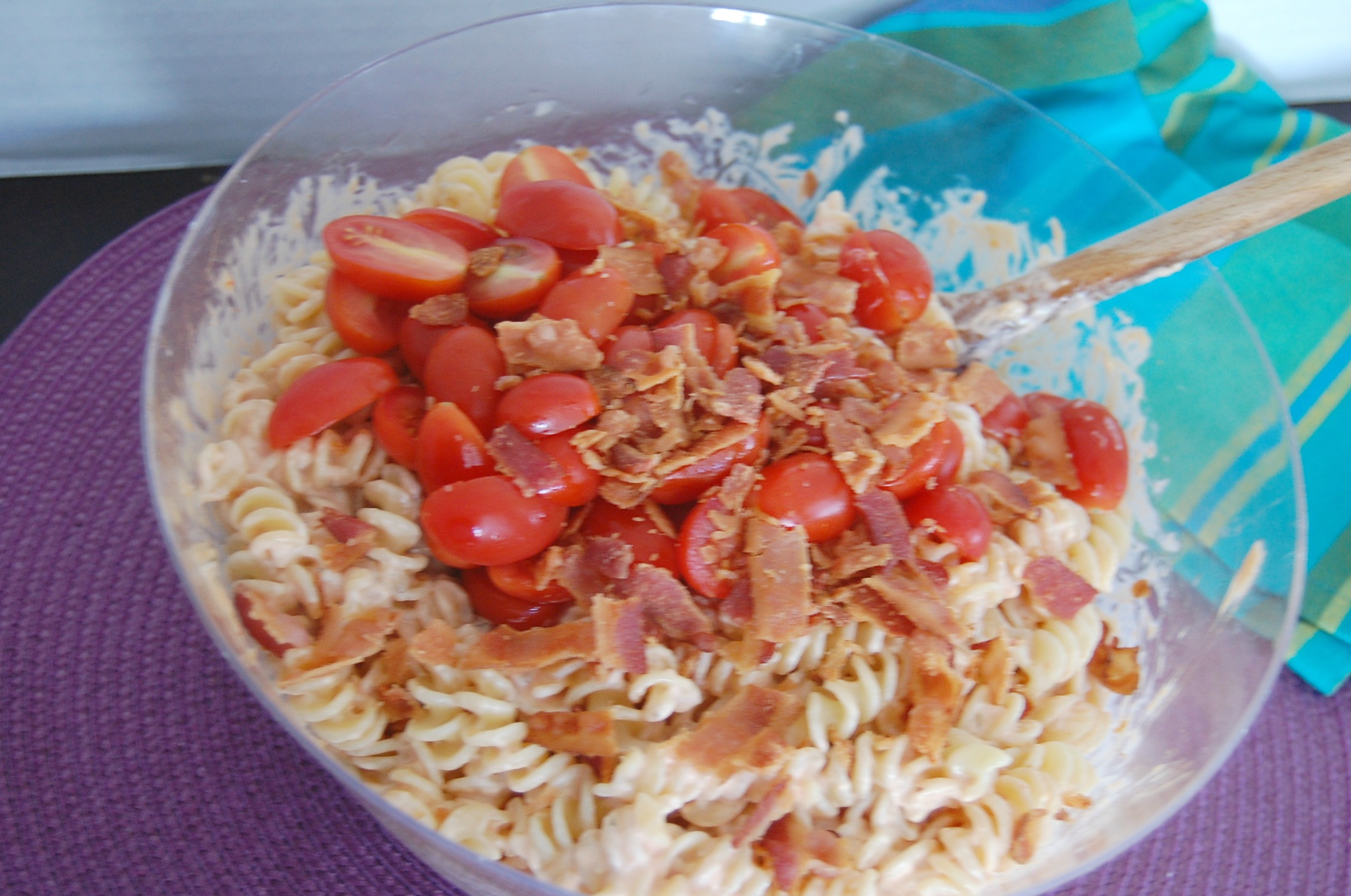 Chicken Club Pasta Salad