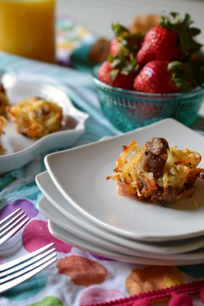Serve Sausage Hash Brown Potato Cups for a nice variation on traditional breakfast. Perfect for Easter brunch, they are sure to please.