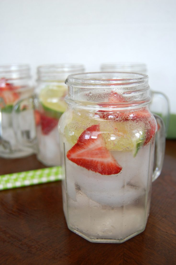 Strawberry Lime Boozy Cooler