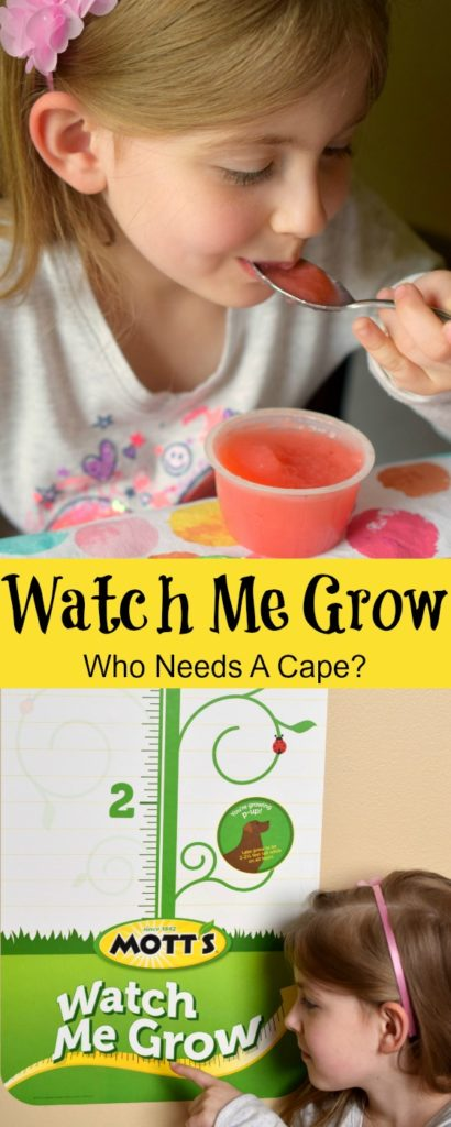 Enjoy delicious Mott's products and get a growth chart! Watch Me Grow and help your child see how much they've grown while enjoying a tasty snack.