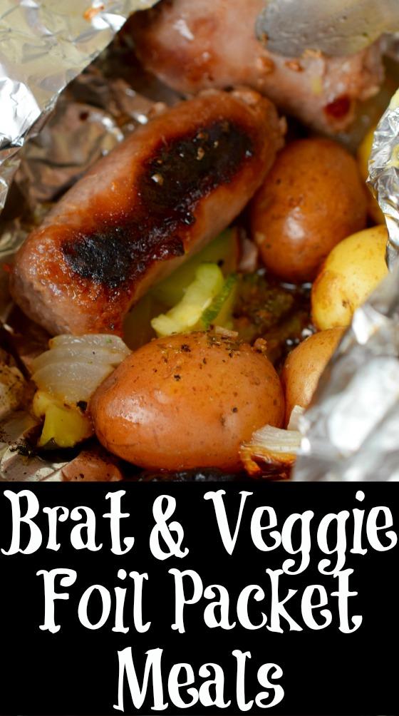 Brat & Veggie Foil Packet Meals