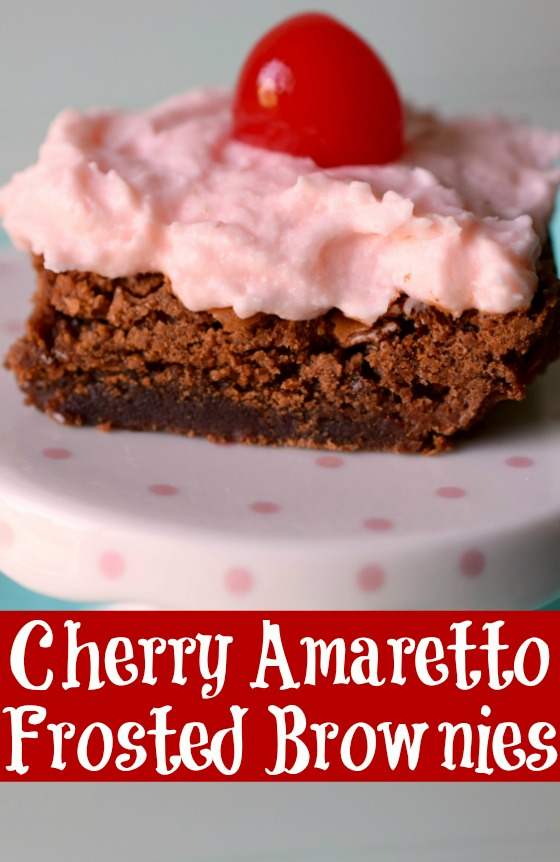 Cherry Amaretto Frosted Brownies