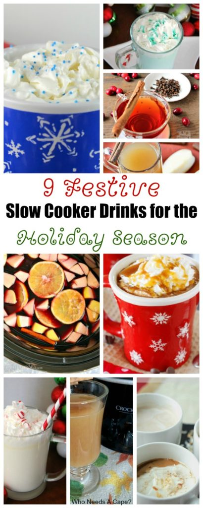 Holiday parties are just better with a tasty beverage. Here are 9 Festive Slow Cooker Drinks for the Holiday Season, some are boozy for the adults too.