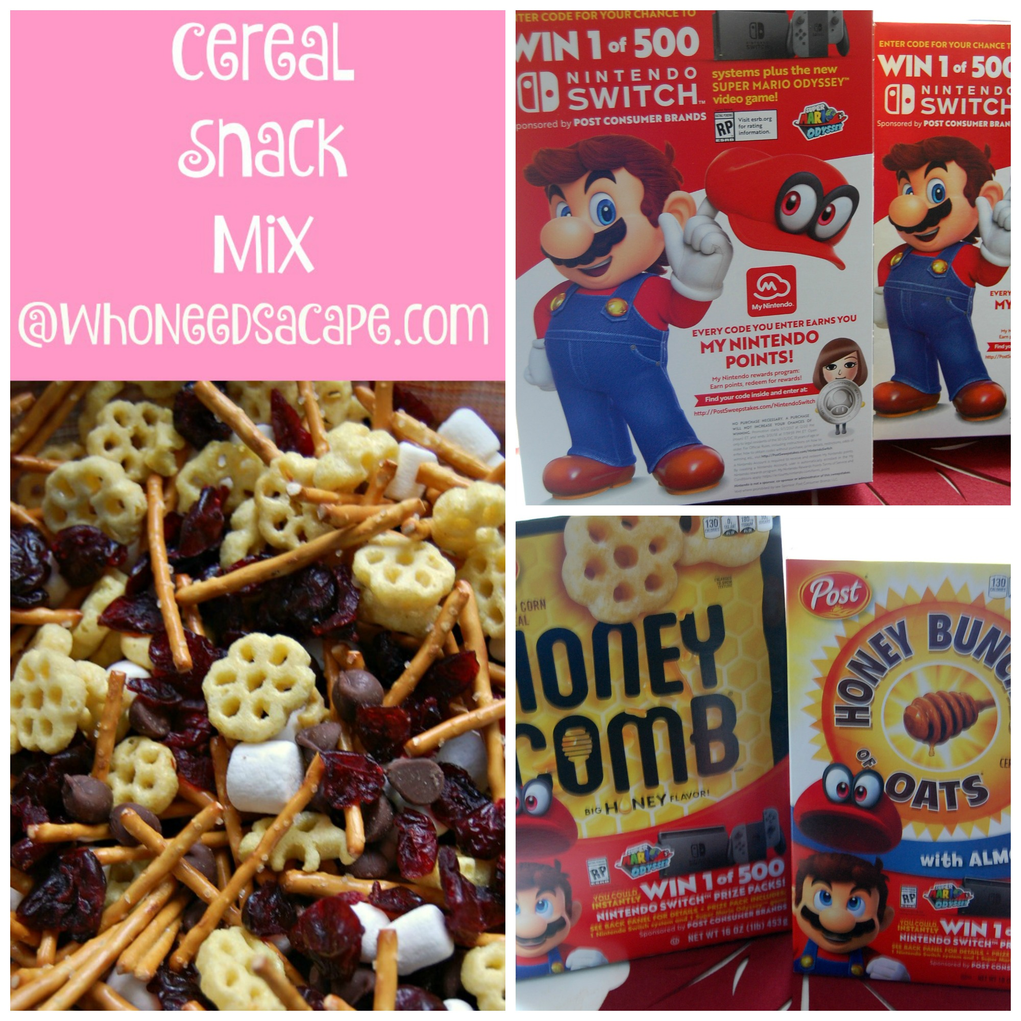 Cereal Snack Mix Square