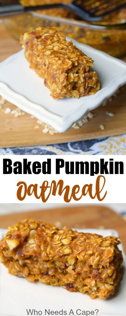 Baked Pumpkin Oatmeal is a delicious way to liven up your breakfast routine. Easy to make, add in items to suit your tastes too.