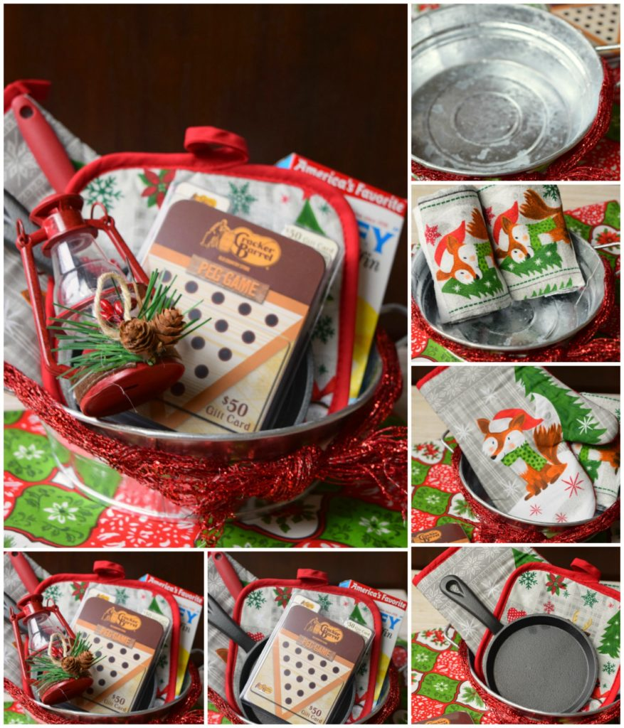 Give the Gift of Comfort Food with this easy to make gift basket. Stop into Walmart and you'll find all you need for this great holiday gift.