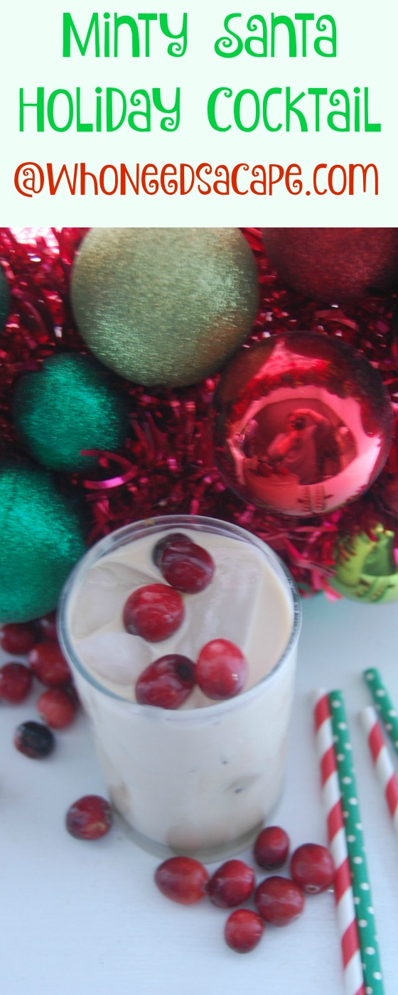 The Minty Santa Holiday Cocktail is a perfect, new twist on our old favorite the White Russian. A great addition to holiday parties.