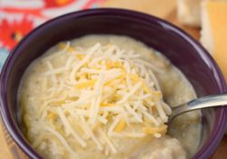 Creamy Slow Cooker Hash Brown & Sausage Soup