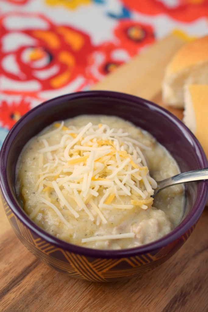 Creamy Slow Cooker Hash Brown & Sausage Soup is a wonderful meal from your crockpot. Easy to make, this comforting dinner is a family favorite.