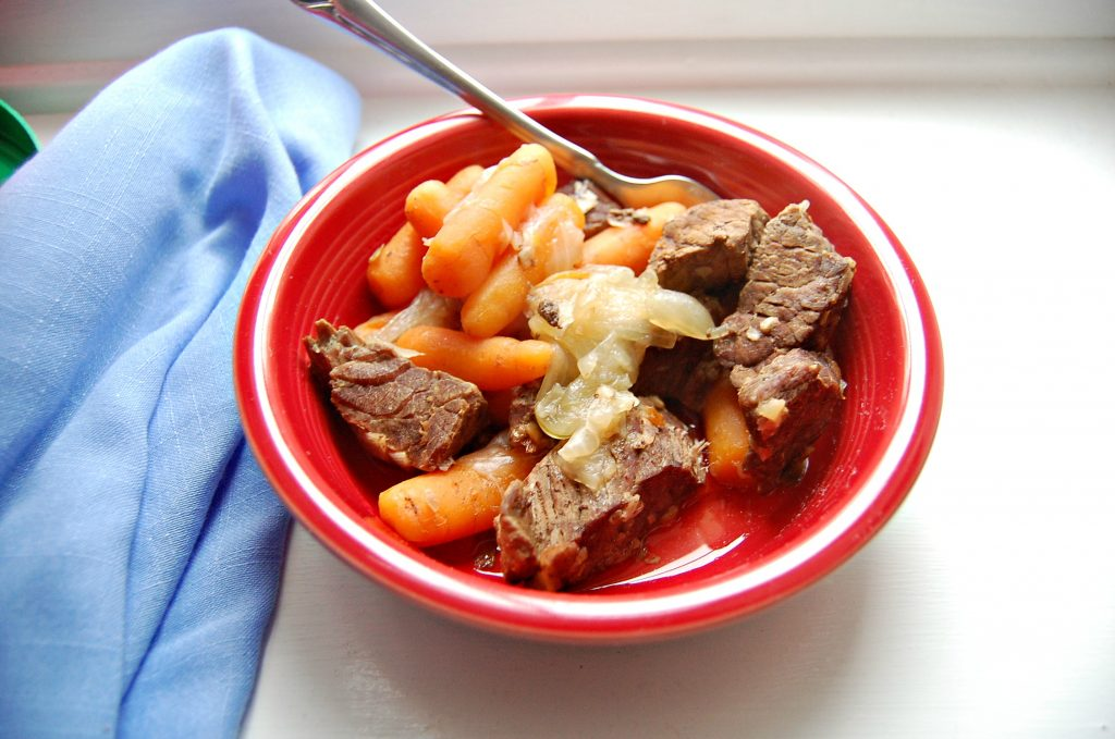 Pressure Cooker Beef & Carrots