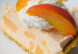 Fuzzy Navel No Bake Cheesecake