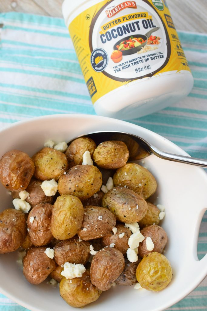 Roasted Tiny Potatoes with Feta make a delicious addition to most entrees. Perfect with grilled chicken, they taste great and are easy to prepare.