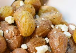 Roasted Tiny Potatoes with Feta