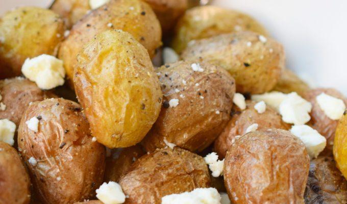 Roasted Tiny Potatoes with Feta