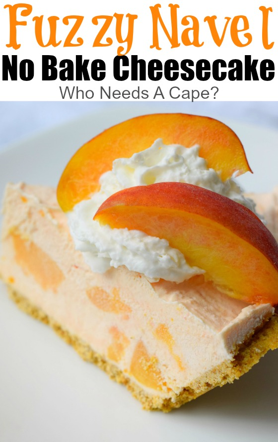 Fuzzy Navel No Bake Cheesecake