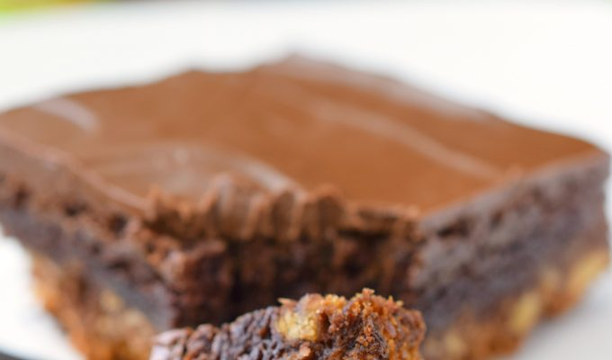 Triple Layer Frosted Brownies