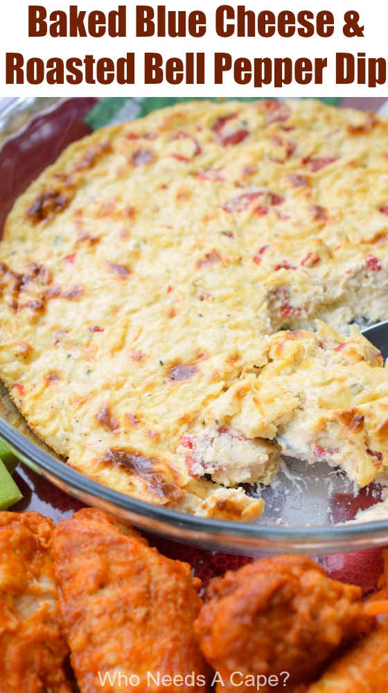 Baked Blue Cheese & Roasted Bell Pepper Dip