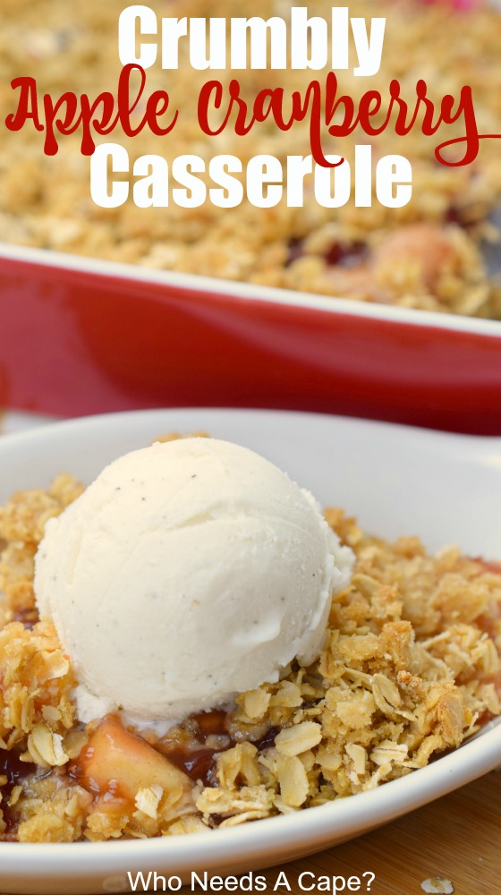 Crumbly Apple Cranberry Casserole