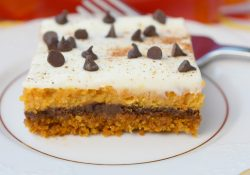 Pumpkin Chocolate Cheesecake Bars