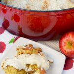 Dutch Apple Cobbler with Cheesecake Topping