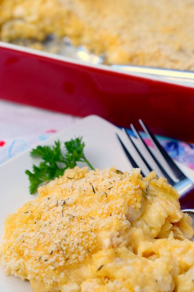 Cheesy Chicken, Artichoke & Rice Casserole is a dish that combines some favorite flavors in one comforting recipe. An easy to prepare dinner you'll love.