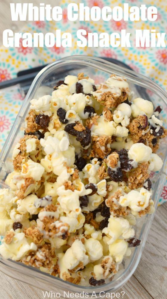 White Chocolate Granola Snack Mix