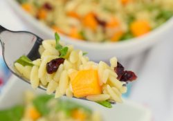 Autumn Orzo Salad with Coconut Orange Dressing