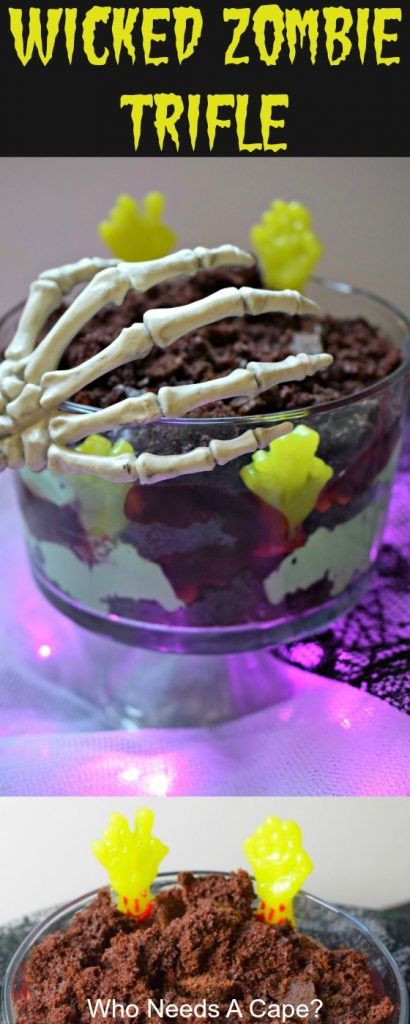Wicked Zombie Trifle is the perfect dessert for Halloween parties! With layers of delicious flavors, customize the colors and have a spooktacular time!
