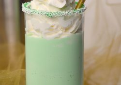 The holiday season deserves a Minty Mistletoe Cocktail! Almost a milkshake, but not quite! You'll love the mint flavor, perfect for Christmas.