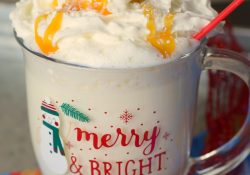 Salted Caramel White Hot Chocolate #ChristmasSweetsWeek