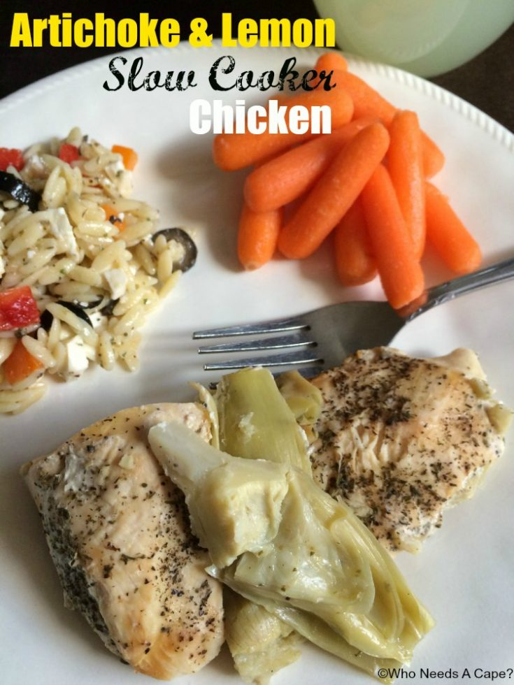 Artichoke & Lemon Slow Cooker Chicken