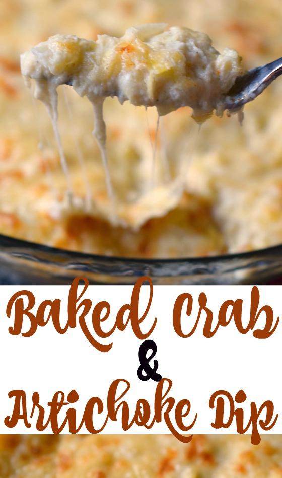 Baked Crab & Artichoke Dip