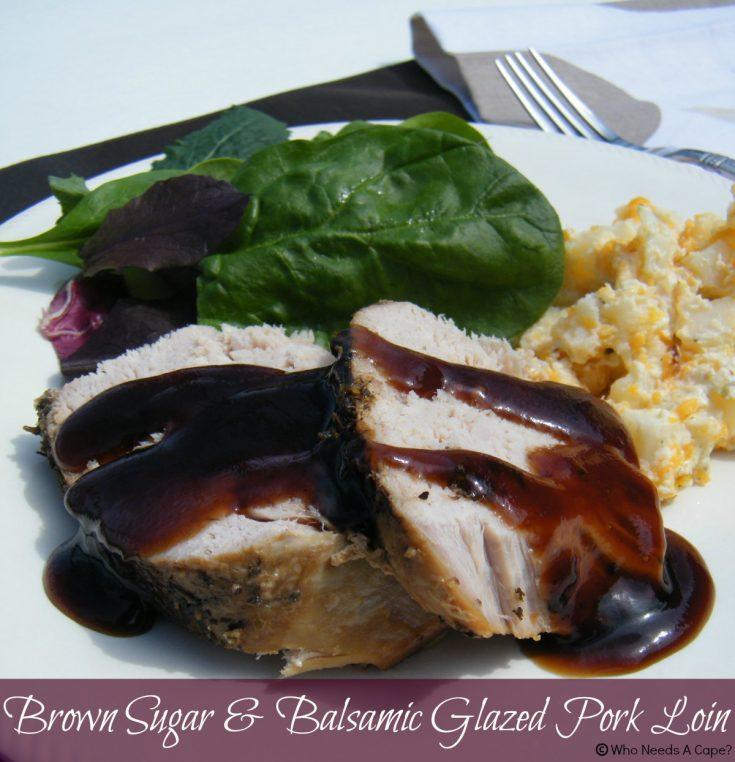 Slow Cooker Brown Sugar & Balsamic Glazed Pork Loin