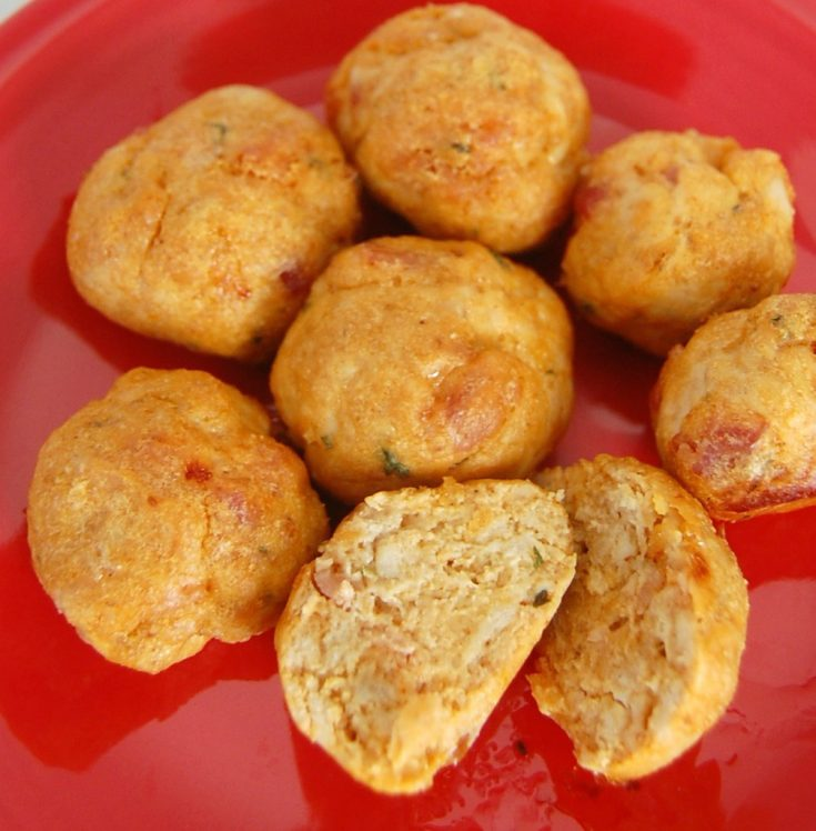 Buffalo Bacon Chicken Meatballs