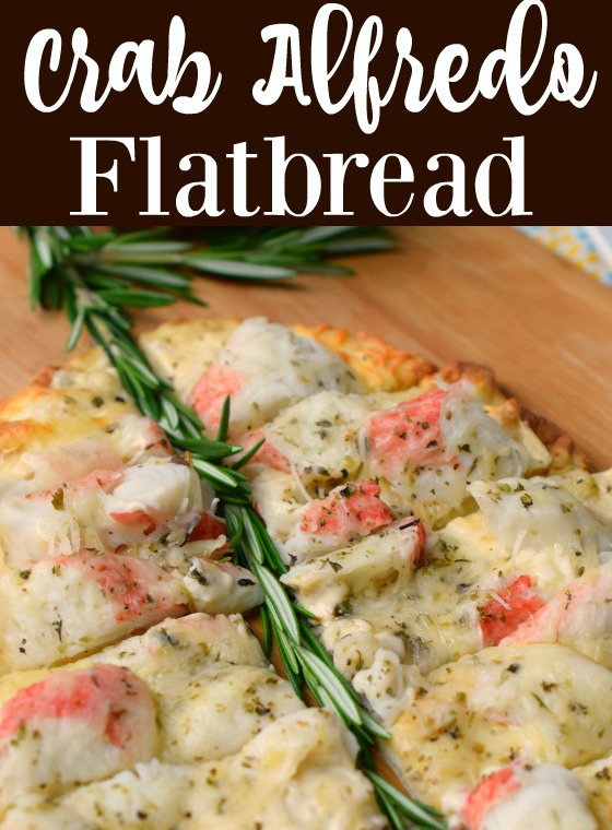 Crab Alfredo Flatbread