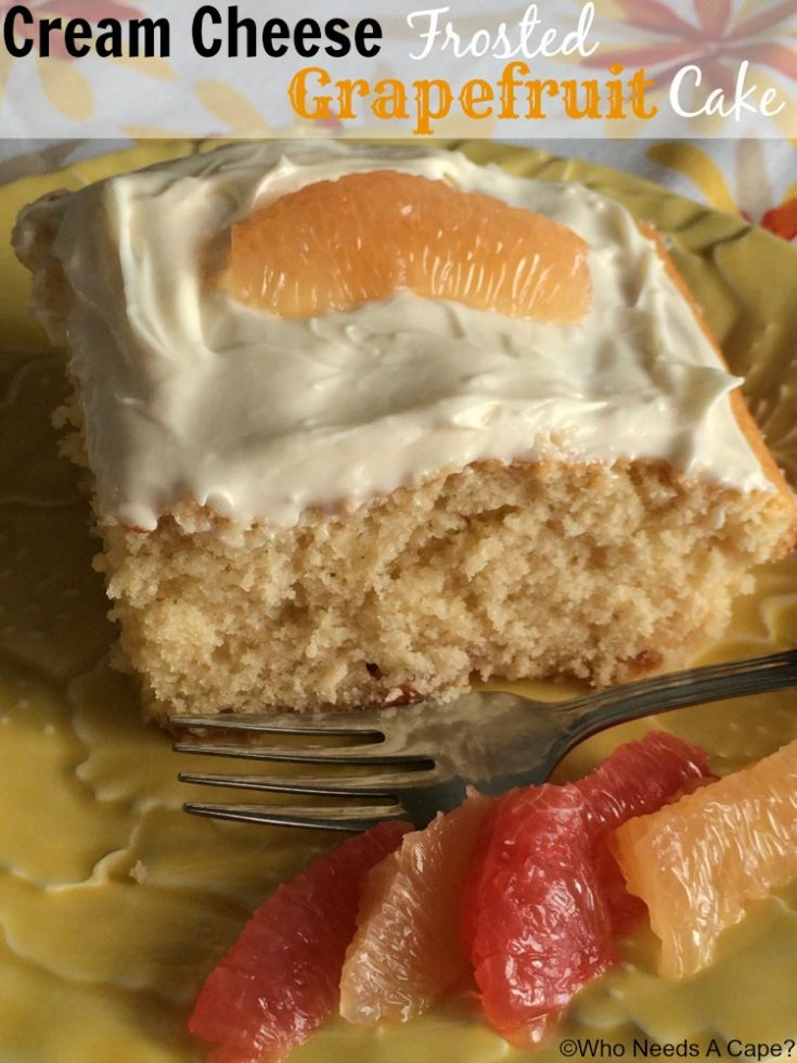 Cream Cheese Frosted Grapefruit Cake