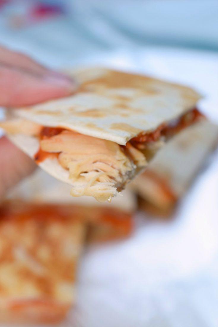 Rotisserie Chicken Pizza Quesadillas