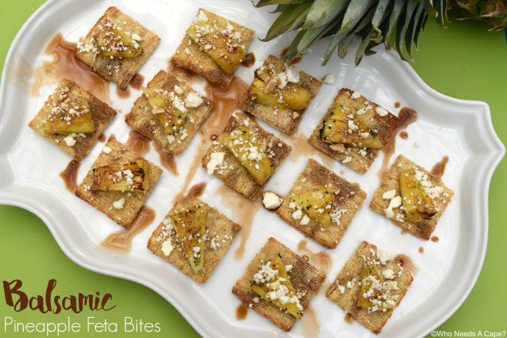 Balsamic Pineapple Feta Bites