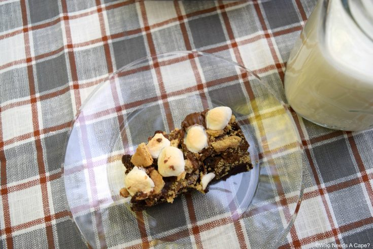 Peanut Butter Cup Brownie S'mores