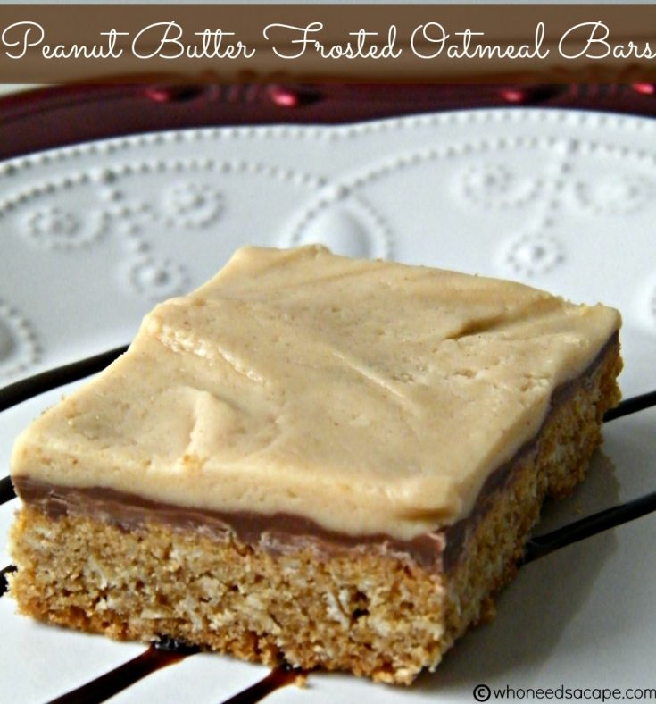 Peanut Butter Frosted Oatmeal Bars