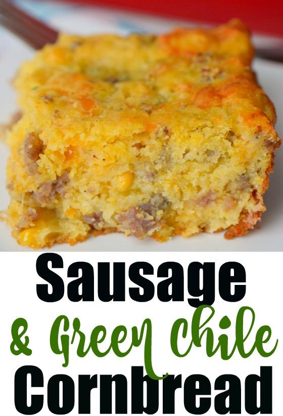 Sausage & Green Chile Cornbread