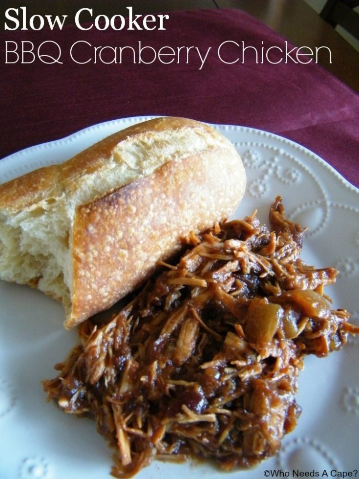 Slow Cooker BBQ Cranberry Chicken