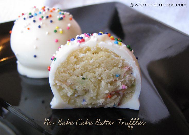 No-Bake Cake Batter Truffles