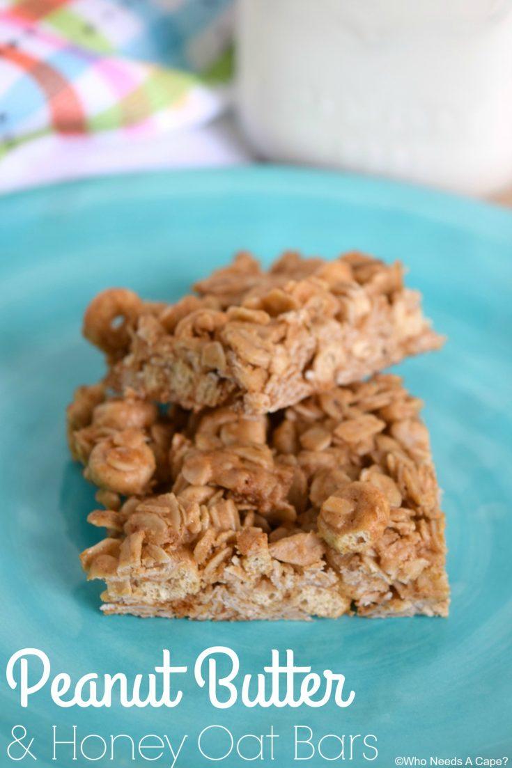 Peanut Butter & Honey Oat Bars