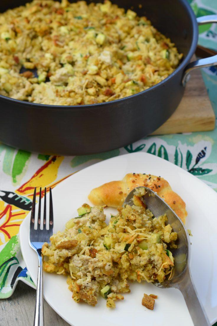 Chicken & Zucchini Stuffing Mix Casserole